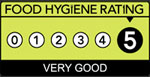 Rated 5 for Food Hygiene